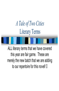 A Tale of Two Cities: Literary Terms