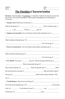 Printables The Outsiders Worksheets the outsiders worksheets abitlikethis pin character worksheet on pinterest