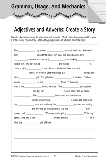 Adjectives and Adverbs: Create a Story