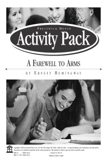 A Farewell to Arms Activity Pack