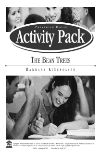 The Bean Trees Activity Pack