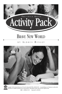Brave New World Activity Pack