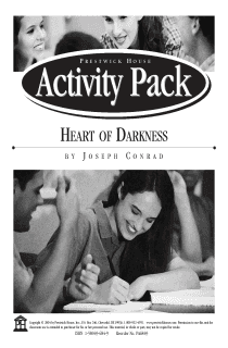 Heart of Darkness Activity Pack