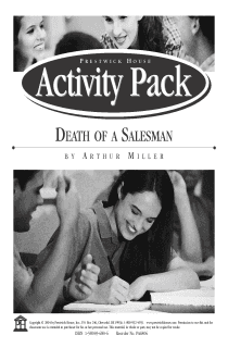 Death of a Salesman Activity Pack
