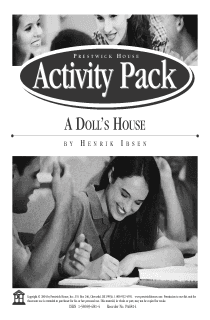 A Doll's House Activity Pack