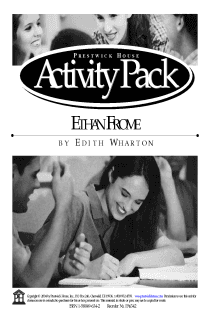 Ethan Frome Activity Pack