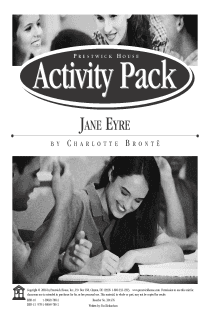 Jane Eyre Activity Pack