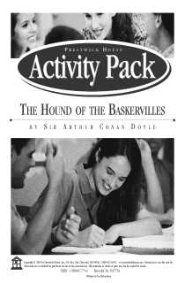 The Hound of the Baskervilles Activity Pack