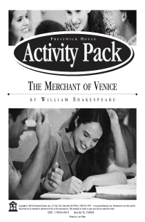 The Merchant of Venice Activity Pack