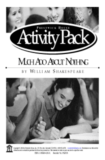 Much Ado About Nothing Activity Pack