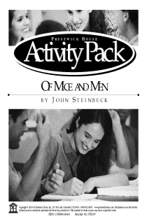 Of Mice and Men Activity Pack