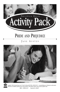 Pride and Prejudice Activity Pack