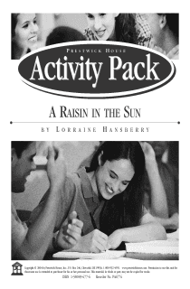A Raisin in the Sun Activity Pack