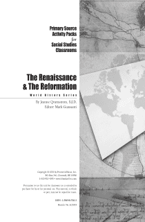 Renaissance and Reformation Activity Pack