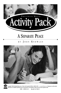 A Separate Peace Activity Pack