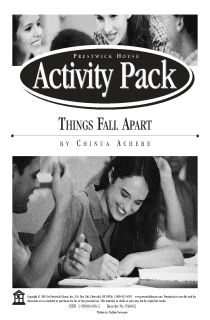Things Fall Apart Activity Pack
