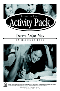 Twelve Angry Men Activity Pack