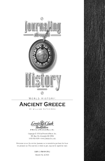 Ancient Greece Journaling Through History