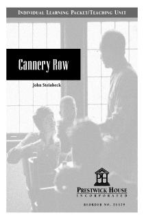 Cannery Row Teaching Unit