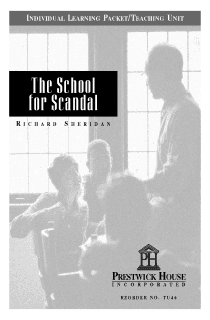 School for Scandal Teaching Unit