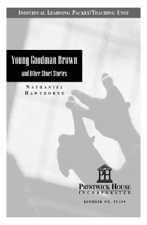 Young Goodman Brown Teaching Unit