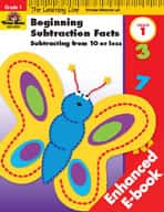 Learning Line Math: Beginning Subtraction: from 10 or Less (Enhanced eBook)