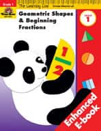 Learning Line Math: Geometric Shapes & Beginning Fractions (Enhanced eBook)