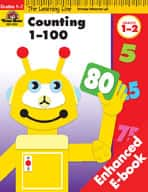 Learning Line Math: Counting 1-100 (Enhanced eBook)