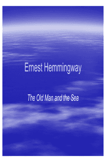 Intro to The Old Man and the Sea