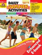 Daily Summer Activities: Moving from 7th to 8th Grade (Enhanced eBook)