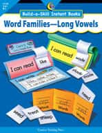 Word Families-Long Vowels, Build-A-Skill Instant Books (Enhanced eBook)