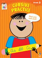 Cursive Practice Stick Kids Workbook: Grade 3