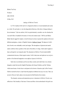 Essay/Discussion of Gulliver's Travels