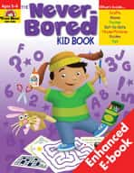 Never-Bored Kid Book: Grades K-1 (Enhanced eBook)