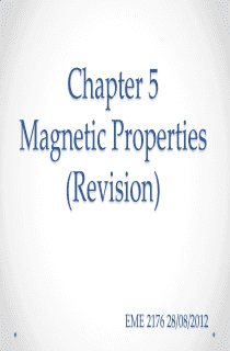 Magnetic Properties Notes