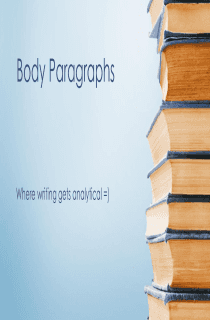 Better Analysis Paragraphs