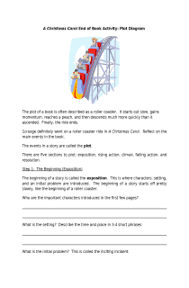 A Christmas Carol End of Book Activity: Plot Diagram