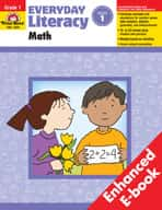 Everyday Literacy: Math: Grade 1 (Enhanced eBook)