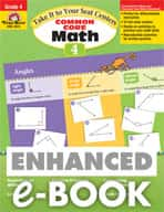 Take It to Your Seat: Common Core Math Centers: Grade 4 (Enhanced eBook)