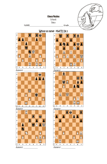 Chess - checkmate in 1 exercise