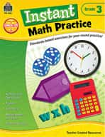 Instant Math Practice: Grade 3 (Enhanced eBook)