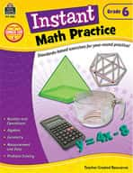 Instant Math Practice: Grade 6 (Enhanced eBook)