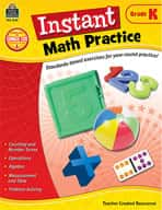 Instant Math Practice: Kindergarten (Enhanced eBook)