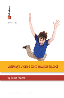 Sideways Stories From Wayside School eNotes Lesson Plan