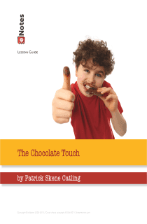 The Chocolate Touch eNotes Lesson Plan